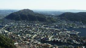 Norwegische Weststadt Bergen stock video