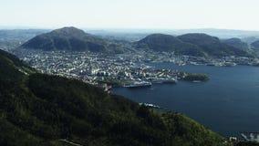 Norwegische Weststadt Bergen stock video footage