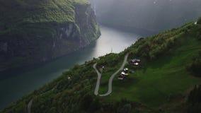 Norwegischer Fjord Geiranger stock video