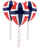 Norwegischer Flaggenballon Lizenzfreie Stockbilder