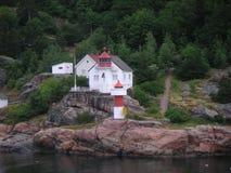 Norwegischer Leuchtturm Stockfotografie
