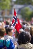 Norwegischer Nationaltag lizenzfreie stockbilder