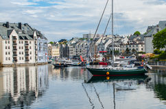 Norwegischer Seehafen Lizenzfreie Stockfotografie