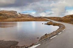 Norwegischer szenischer Weg Aurlandsfjellet Lizenzfreie Stockfotos