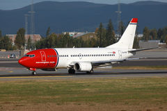 Norwegisches Boeing 737-300 Stockfoto
