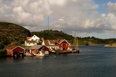 Norwegisches Dorf Stockfotografie