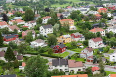 Norwegisches Dorf Lizenzfreies Stockbild