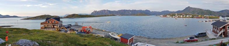Norwegisches Dorf Gjesvær stockfotografie