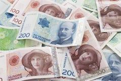 Norwegisches Geld Stockbild