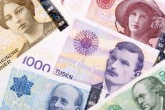 Norwegisches Geld, ein Hintergrund Stockfotografie