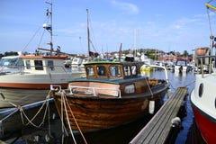 Norwegisches treeboat Stockfotos