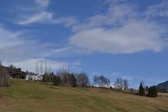 Norwegu gospodarstwo rolne w wiośnie obraz royalty free