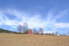 Norwegu gospodarstwo rolne w wiośnie zdjęcie stock