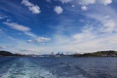 Norwegu wybrzeże Zdjęcia Royalty Free