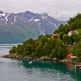Norweigian fjord stock photo
