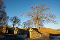 Norweigian-Flagge an Akershus-Festung Lizenzfreie Stockfotografie
