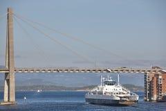 Norwescy promy w Stavanger miasta schronieniu Norwegia Transportati Fotografia Stock