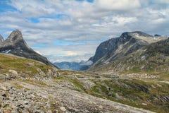 Norweska krajowa droga RV63 Obraz Royalty Free