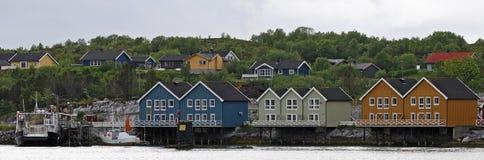 norweska mała wioska Fotografia Royalty Free