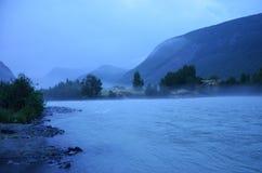 norweska rzeka Obraz Stock