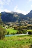 Norweska wieś Fotografia Royalty Free