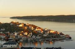 Norweska wyspa podczas zmierzchu Obrazy Royalty Free