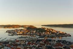 Norweska wyspa podczas zmierzchu Fotografia Royalty Free