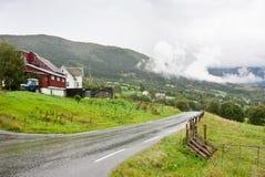 Norweska ziemia uprawna Zdjęcie Stock