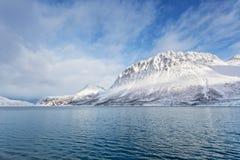 Norweska zimy sceneria Zdjęcie Royalty Free
