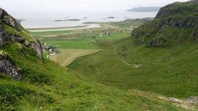 Norweski Arktycznego oceanu wybrzeża krajobraz Obraz Royalty Free