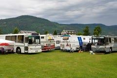 Norweski camping Zdjęcia Royalty Free