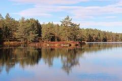 Norweski jezioro fotografia stock