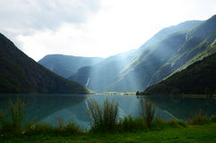 Norweski jezioro Obraz Stock