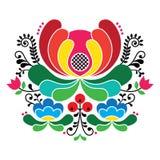 Norweski ludowej sztuki wzór - Rosemaling stylowa broderia royalty ilustracja