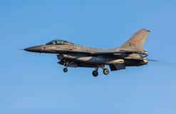 Norweski myśliwiec f-16 strumień Zdjęcie Royalty Free