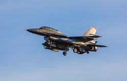 Norweski myśliwiec f-16 strumień fotografia royalty free