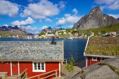 Norweski połowu miasteczko zdjęcia royalty free