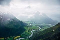 Norweski widok górski obrazy stock