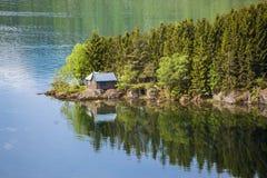 Norwey landskap Arkivfoto