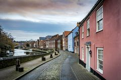 Norwich along the banks of the river Wensum in Norfolk stock photo
