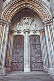 Norwich Cathedral. Large double arch doorway to Norwich Roman Catholic Cathedral Royalty Free Stock Photography