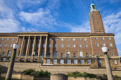 Norwich City Hall. A view of the art deco architecture of Norwich City Hall in the historic city of Norwich, UK stock photo