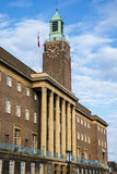Norwich City Hall. A view of the art deco architecture of Norwich City Hall in the historic city of Norwich, UK stock photography