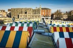 Norwich a couvert des bâtiments de centre du marché et de la ville Photos libres de droits
