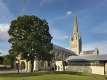 Norwich katedra W Anglia - Akcyjny wizerunek zdjęcie stock