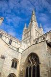 Norwich katedry iglica Obraz Stock