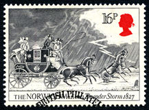 Norwich Mail in a Thunder Storm UK Postage Stamp Stock Photos