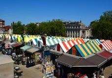 Norwich market. Colourful market hall Norwich, United Kingdom Stock Photography