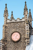 NORWICH, NORFOLK/UK - 24 APRIL: Een close-upmening van een kerk in N Stock Foto's
