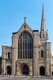 NORWICH, NORFOLK/UK - KWIECIEŃ 24: Widok katedra w Norwic Obraz Stock